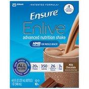 Ensure Enlive Advanced Milk Chocolate Ensure Enlive Milk Chocolate Advanced Nutrition Shake