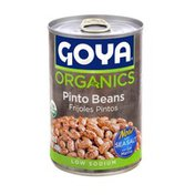Goya Organic Pinto Beans, Low Sodium
