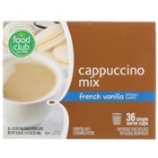 Food Club French Vanilla Cappuccino Mix Single Serve Cups