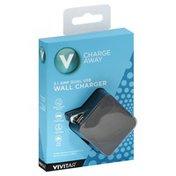 Vivitar Wall Charger, Dual USB, 3.1 Amp