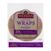Toufayan Bakeries Wraps Multigrain - 6 CT