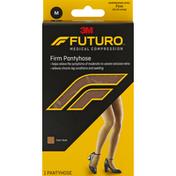 FUTURO Pantyhose, Firm, Medium, Nude