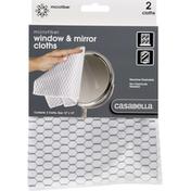 """Casabella White & Black 12"""" x 14"""" Glass Microfiber Cloth"""