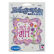 "Betallic 18"" Holographic Balloon It's A Girl"