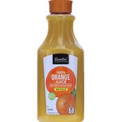 Essential Everyday 100% Juice, Orange, No Pulp