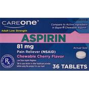 CareOne Adult Low Strength Cherry Chewable Aspirin 81mg