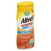 Alive Water Enhancer, Orchard Peach Flavored, Herbal Caffeine