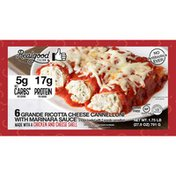 Real Good Foods Ricotta Cheese Cannelloni with Marinara Sauce