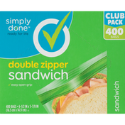 Simply Done Zipper Sandwich Bags