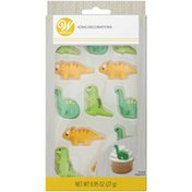 Wilton Green and Orange Dinosaur Royal Icing Decorations, 12-Count