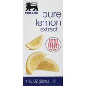 Food Lion Lemon, Pure, Extract, Box