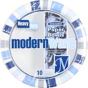 modernware Designer Paper Bowls, Heavy Duty, 12 Ounce