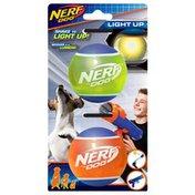 """NERF DOG 2.5"""" TPR LED Ball Dog Toy"""