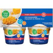 Food Club Triple Cheese Microwaveable Macaroni & Cheese Dinner