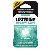 Listerine Ready! Tabs Chewable Tablets Soft Mint
