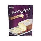Meijer Classic Pound Moist Select CAKE MIX