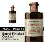 High West Old Fashioned Barrel Finished Ready Made Cocktail Whiskey