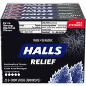 Halls Extra Strong Menthol Flavor Max Strength Oral Anesthetic Drops
