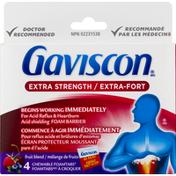 Gaviscon Acid Reflux & Heartburn Relief, Extra Strength, Fruit Blend, Chewable FoamTabs