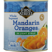 First Street Mandarin Oranges, In Lightly Syrup, Whole Segment