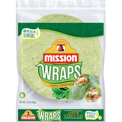 Mission Wraps Garden Spinach Herb Tortillas