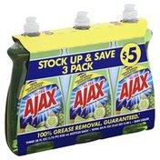 Ajax Dish Liquid, Lime, Bleach Alternative, 3 Pack