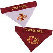 Pet's First Large to Extra Large Reversible Iowa State Pet Bandanna