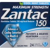 Zantac 150 Maximum Strength  Acid Reducer Ranitidine Tablets