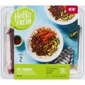 Hello Fresh Meal Kit, Beef Bibimbap