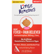 Little Remedies Natural Berry Flavor Infant Fever + Pain Reliever