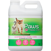 Paws Happy Life Clumping Cat Litter, Scented for Multi-Cat