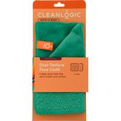 Cleanlogic Face Cloth, Dual-Texture