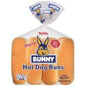 Bunny Bread Hot Dog Original Buns