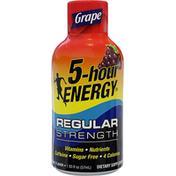 5-Hour Energy Energy Shot, Regular Strength, Grape Flavor