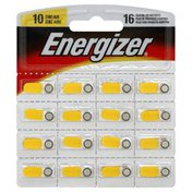 Energizer Batteries, Hearing Aid, Zinc Air, Size 10