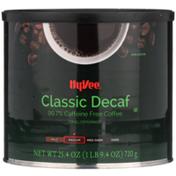 Hy-Vee Medium Roast Classic Decaf 99.7% Caffeine Free Ground Coffee