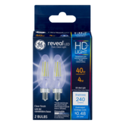 General Electric Reveal HD+ Light Dimmable Light Bulbs 40W