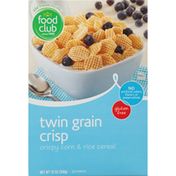 Food Club Twin Grain Crispy Corn & Rice Cereal