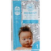 The Honest Company Diapers, Pandas, 1 (8-14 Pounds)