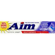 AIM Toothpaste, Anticavity Fluoride Gel, Multi-Benefit, Cool Mint