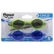 Aqua Goggles, Aquaflex, Child, 2 Pack