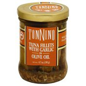 Tonnino Tuna Fillets with Garlic, in Olive Oil