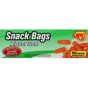 Home Select Snack Bags, Zipper Seal