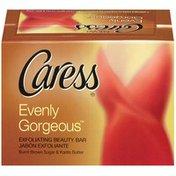 Caress Evenly Gorgeous Exfoliating Burnt Brown Sugar & Karite Butter 4.25 Oz Beauty Bar