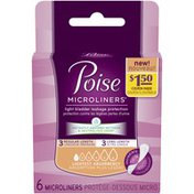 Poise Lightest Absorbency 3 Regular Length/3 Long Length Incontinence Microliners