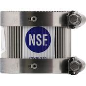 Nsf Coupling, Cast Iron, Plastic, 1-1/2 Inch