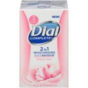 Dial 2 in 1 Moisturizing & Antibacterial Silk & Magnolia Beauty Bar