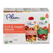 Plum Organics Baby Food Fruit & Veggie Blends
