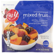 Big Y Unsweetened Mixed Fruit Peaches, Strawberries, Red Seedless Grapes, Pitted Dark Sweet Cherries, Pineapple