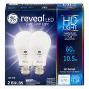 General Electric Reveal HD+LIGHT Dimmable Light Bulbs 60W